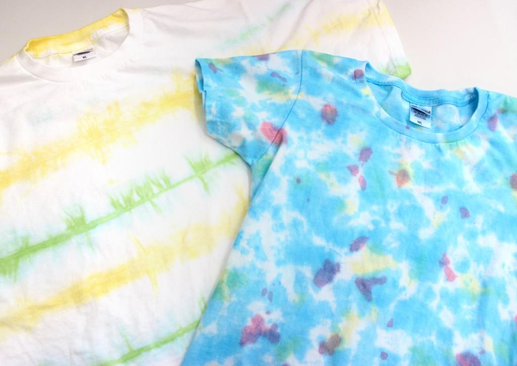 Tシャツ染色体験 ボーダー、タイダイ染め